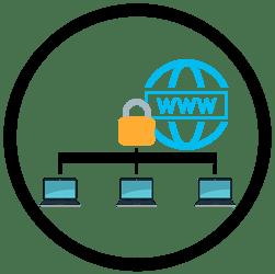 Visual representation of a Virtual Private Network (VPN)