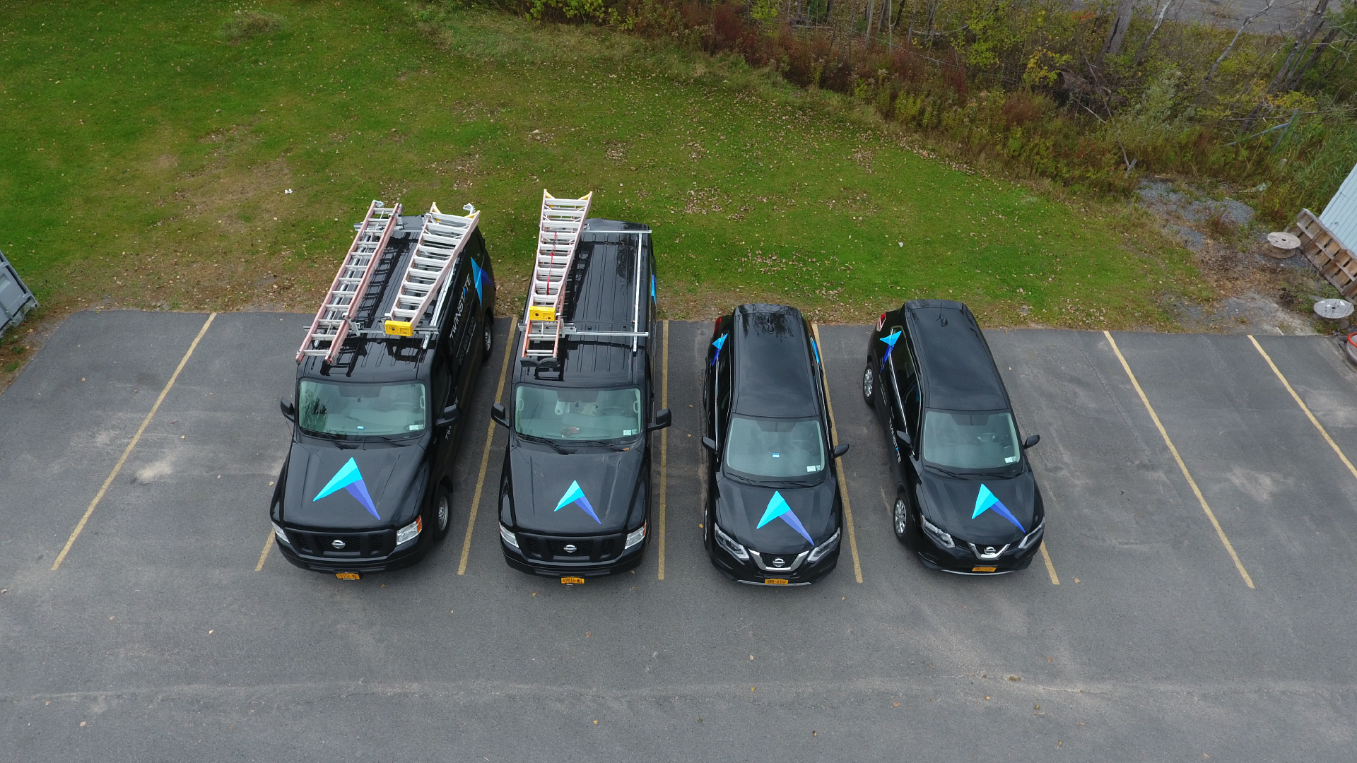 Twinstate Technologies IT Support Vans, Aerial photo taken outside Plattsburgh, NY
